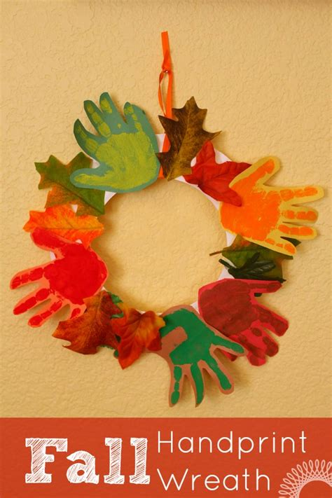 kid fall craft ideas fall handprint wreath wreaths craft and thanksgiving