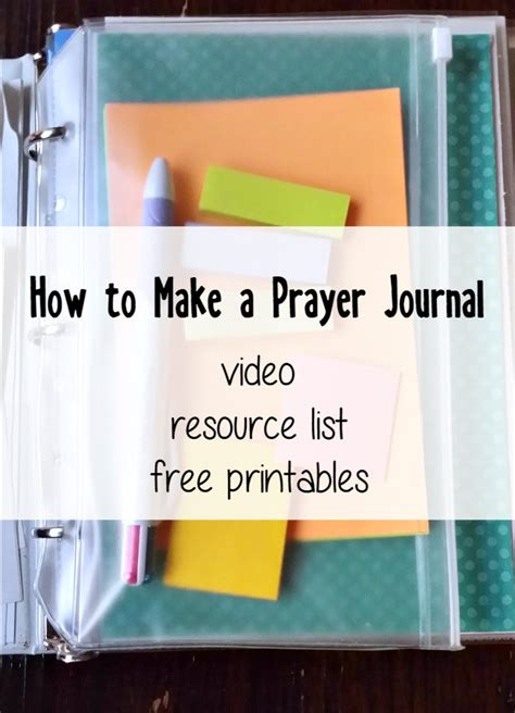 Prayer Journal And Resources The Littlest Way