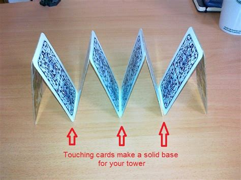 how do you make a card tower how to build a tower of cards