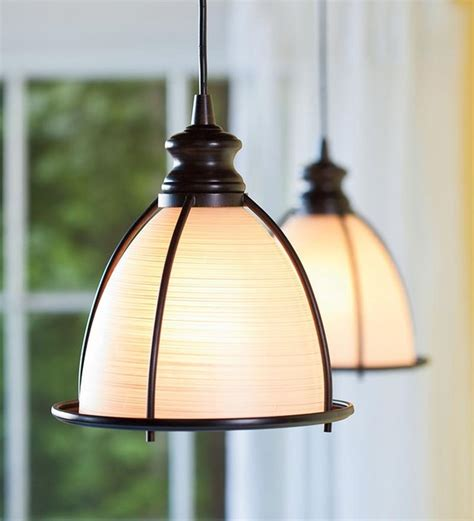 kitchen pendant lighting houzz in brushed bronze and glass cage pendant light