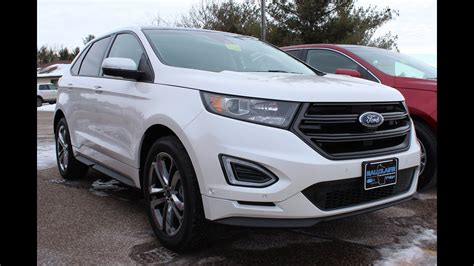 White Ford by White Platinum 2015 Ford Edge Sport At Eau Ford