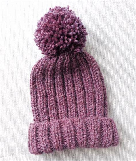 knitting bobble pattern knitted ribbed bobble hat pattern pom pom hat knitting