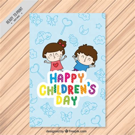 greeting card for children greeting card of children s day with happy