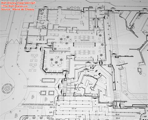 blueprint layout ratatouille attraction kitchen calamity restaurant