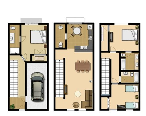 townhome floor plan 3 bedroom executive townhouse