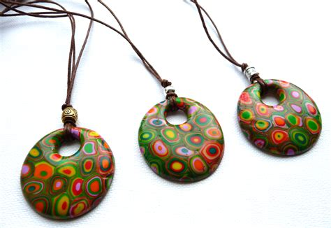 clay jewelry polymer clay necklace p designs