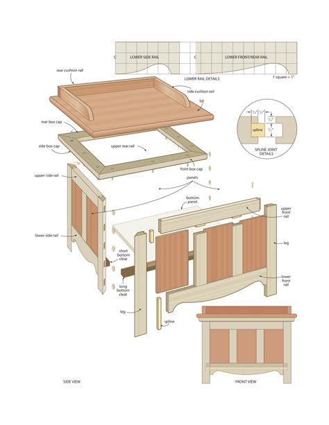 187 Patio Storage Bench Diy Pdf Patio Furniture