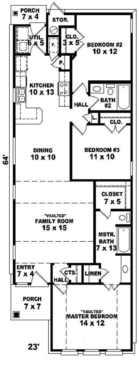 floor plans for narrow lots avella ranch narrow lot home plan 087d 0050 house plans and more