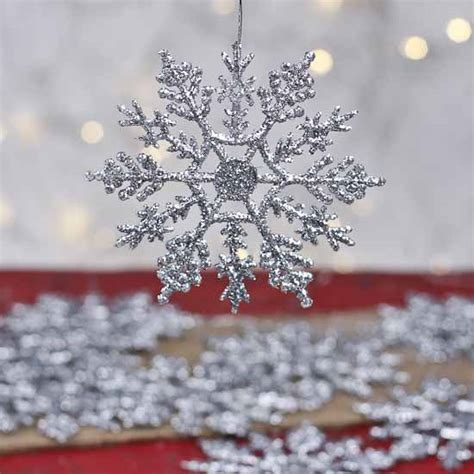 silver glitter snowflake ornaments silver glitter snowflake ornaments winter weddings theme