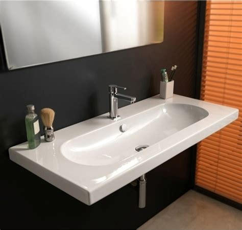 how wide is a kitchen sink wide rectangular wall mounted vessel or built in