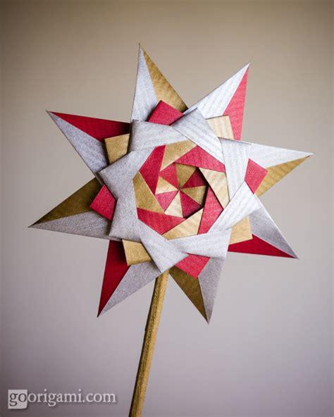 modular origami tree braided corona by sinayskaya