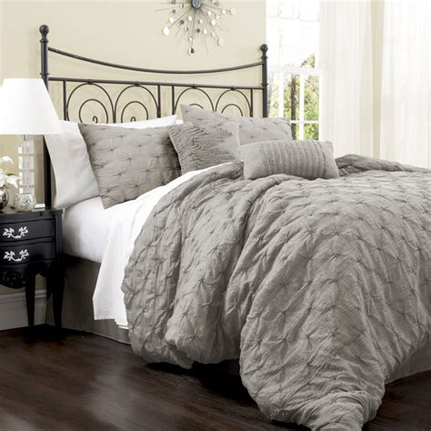 comfy bed sets lush decor lake como 4 comforter set gray