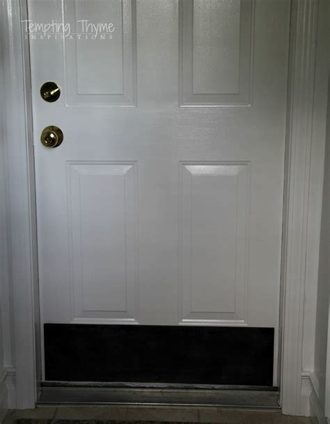 black kick plates for front doors plywood kick plate for an interior door diy tempting thyme