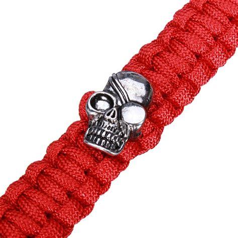 skull for paracord skull paracord bracelet stainless steel buckle survival