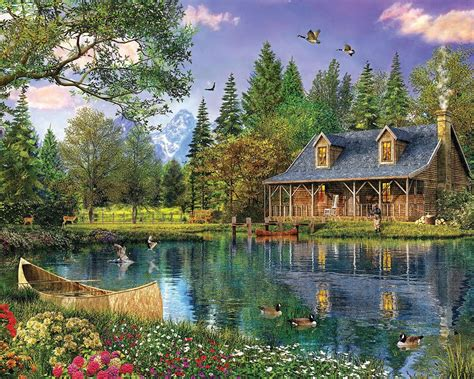 mountain cottages mountain cabin jigsaw puzzle puzzlewarehouse