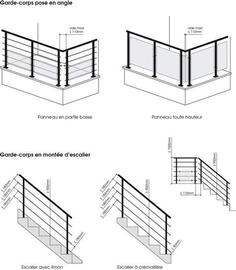 norme garde corps escalier swyze