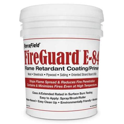 home depot paint protection forcefield fireguard e 84 5 gal intumescent primer ffgd
