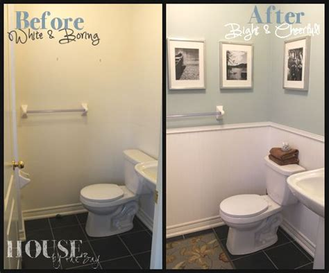 half bath update home stories half bath makeover martha stewart paint martha stewart