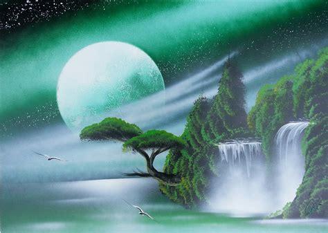 amazing spray paint amazing spray paint green sky trees and