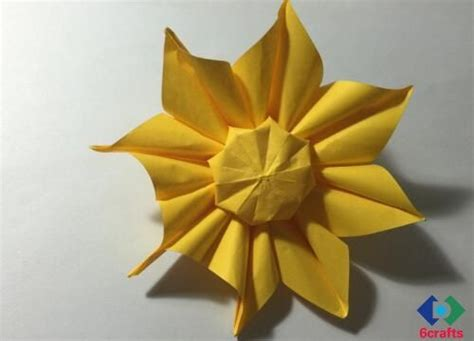 Origami Sunflower Origami Sunflower Step By Step Sunflower