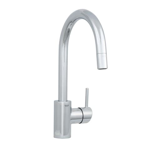 grohe concetto kitchen faucet grohe concetto single handle pull out sprayer kitchen faucet in starlight chrome 32665001 the