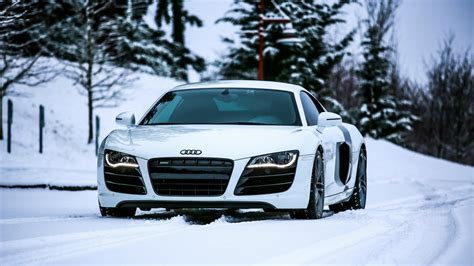 Car Wallpaper Snow by Audi R8 Rides In The Snow Wallpapers And Images