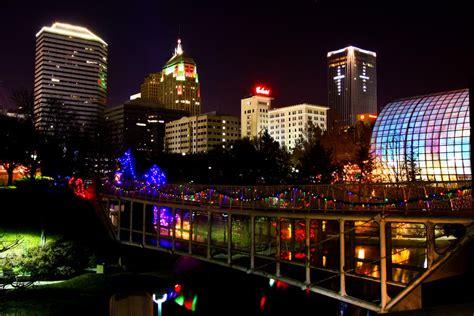 lights downtown oklahoma city a photo on