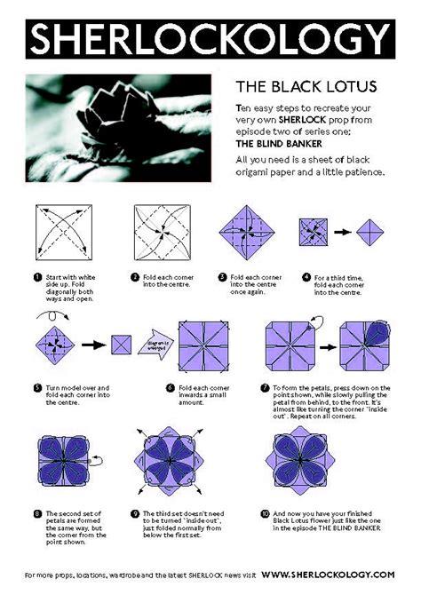 origami black lotus black lotus origami sherlock and doctor who