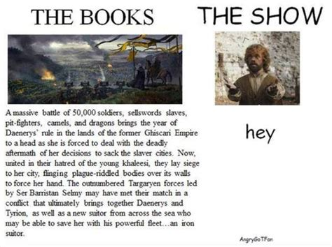 show me pictures of books of thrones books vs tv show 13 pics izismile