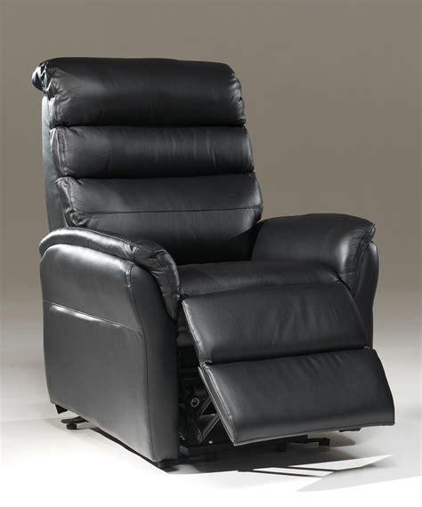 fauteuil de relaxation 233 lectrique en cuir noir 2 moteurs avec releveur joris fauteuil en cuir