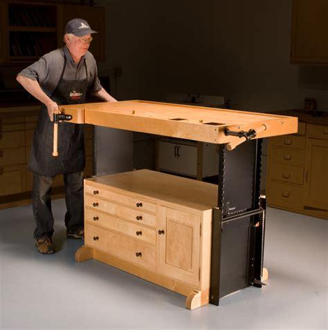best woodworking workbench aw adjustable workbench popular woodworking magazine