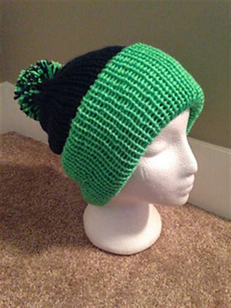 hat knitting machine ravelry seattle seahawks machine knit hat pattern by