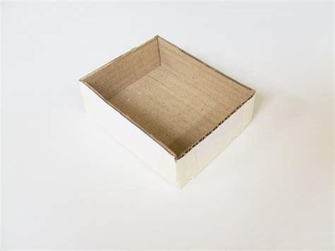 how to decoupage a cardboard box paper mache box catchall 183 how to make a paper box
