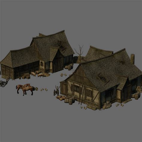 Create 3d Model Of Your House medieval farm extended license 3d models extended