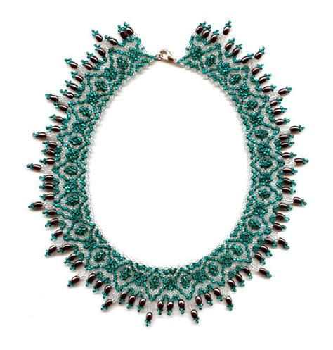 seed bead necklace patterns for beginners beginner pattern seed beaded necklace beading