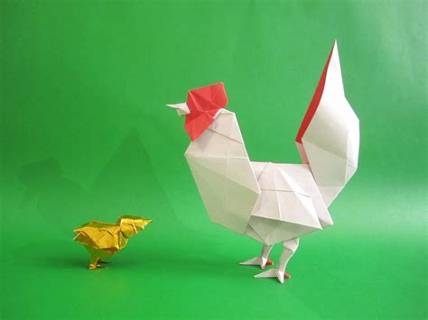 origami chicken 2017 new year origami rooster extravaganza