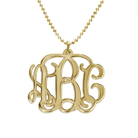 how to make monogram jewelry 18k gold plated monogrammed pendant mynamenecklace