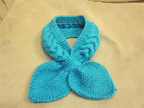 Loving Blueberry Knitted Neck Scarf O O