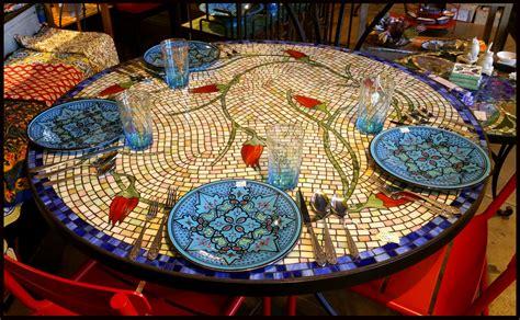 mosaic patio tables furthur wholesale mosaic dining tables