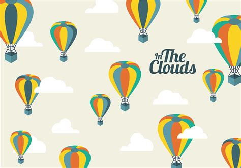 free air balloon background download free vector art