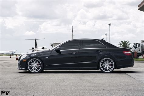 Mercedes E350 Rims roll in style with this e350 on niche wheels