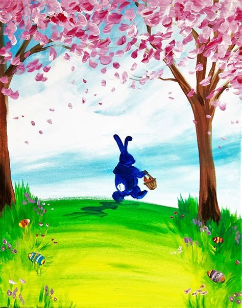 paint nite eastern island paint nite easter bunny hops to it