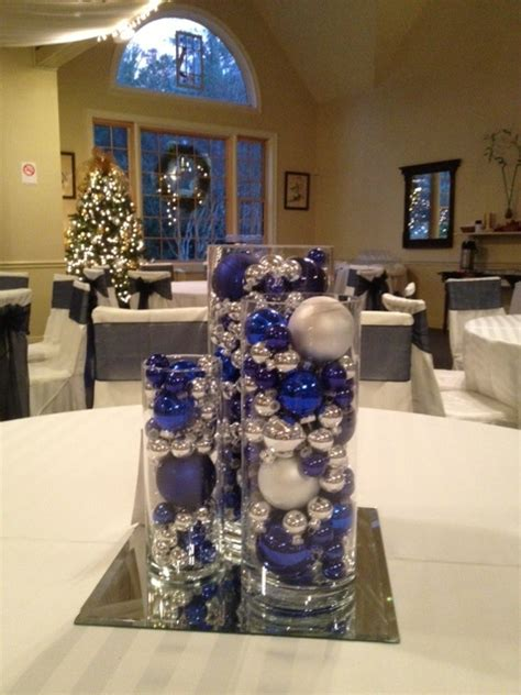 blue and silver centerpieces blue and silver wedding centerpieces use tree