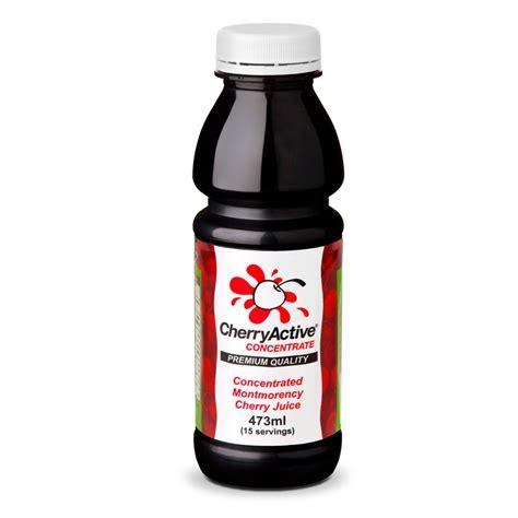 cherry juice cherryactive concentrate tart montmorency cherry juice