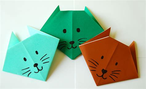 how to origami cat make an origami cat bookworm