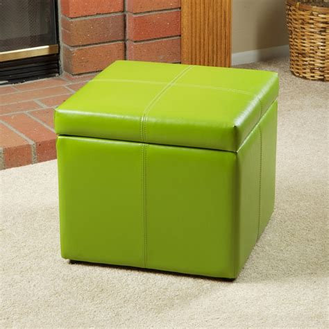 lime green storage ottoman barnes leather microfiber cube storage ottoman footstool