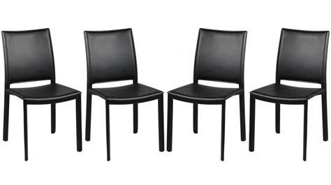 chaises en pvc noir design 4 chaises design pas cher