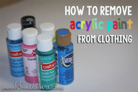 acrylic paint in clothes how to remove acrylic paint from clothing best crafts on