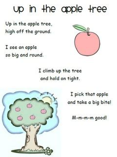 tree poems preschool apple tree poem day by day