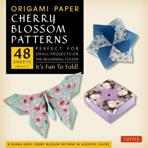origami paper works origami paper cherry blossom patterns large editors